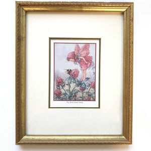 Other - Framed RED CLOVER FAIRY Print